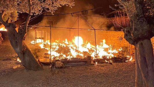 Încendiu în tabăra de refugiați Moria, Grecia